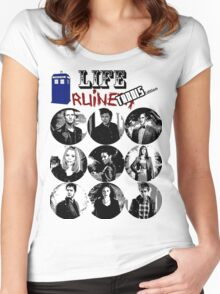 Life Ruiners - Tardis Edition Women's Fitted Scoop T-Shirt