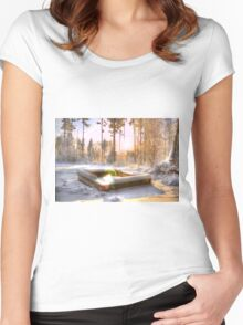 Memories of all the nights we grilled during the summer... Women's Fitted Scoop T-Shirt