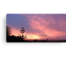 New Zealand Sunset Canvas Print
