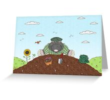 Country Mole Greeting Card