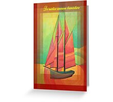 De Rustico Amnem Transituro Greeting Card