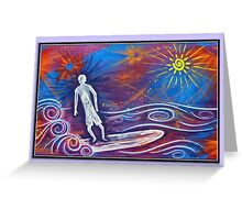 Space Surf Greeting Card Greeting Card