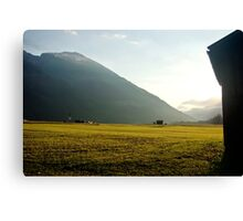 Morninglight over the valley Canvas Print