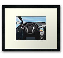 Sports Car Dashboard Framed Print