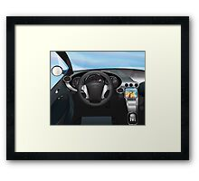 Sports Car Dashboard Framed Print