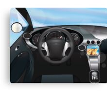 Sports Car Dashboard Canvas Print