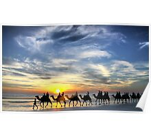 Camels, Cable Beach Poster