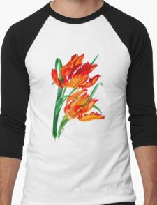 Parrot Tulips Men's Baseball ¾ T-Shirt