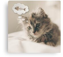 Dreaming Cat Canvas Print