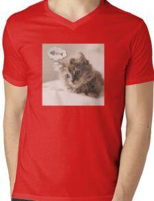 Dreaming Cat Mens V-Neck T-Shirt