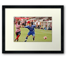 Pre season friendly Witton Albion v Macclesfield Town Framed Print