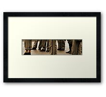 There always has to be one in a crowd  Framed Print
