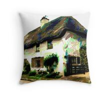 Cromwell Cottage, Naseby, Northamptonshire Throw Pillow