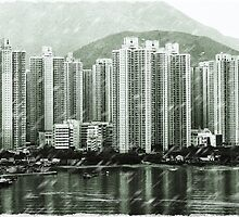 Raining in Tung Chung by Michelle Clarke