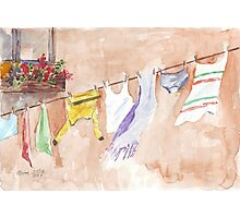 The Clothesline said so much Photographic Print