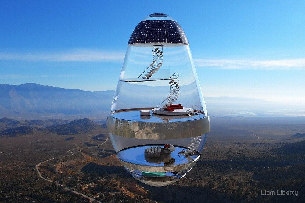 Surreal Glass House - The Water Droplet by Liam Liberty