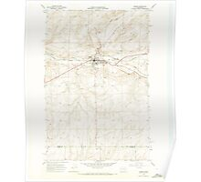 USGS Topo Map Washington State WA Odessa 242903 1968 24000 Poster
