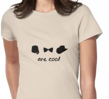 fezzes - bow ties - stetsons are cool Womens Fitted T-Shirt