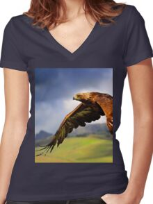 The King of the Mountains Women's Fitted V-Neck T-Shirt