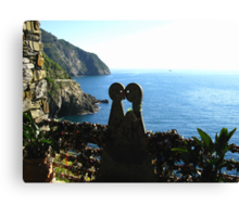 Love is in the Air - Cinque Terre, Italy Canvas Print