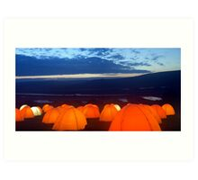 Peace Camp - Cuckmere Haven - Dawn Art Print
