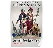 Side by side Britannia! Britains Day Dec 7th 1918 003 Poster