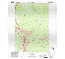 USGS Topo Map Washington State WA Glaciate Butte 241285 1998 24000 Poster