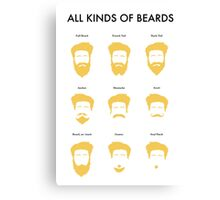 All Kinds of Beards Canvas Print