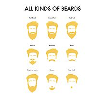 All Kinds of Beards Photographic Print