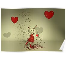 The Captured Heart - Whimsical Valentine's Day Art Poster