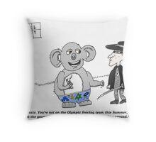 Zeuro and OZ Koala chew the fat Throw Pillow