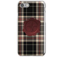 MOBY Inspired Plaid w Red Fleur De Lis Wax Seal iPhone Case/Skin