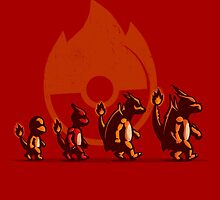 Fire Red Evolution by IdeasConPatatas