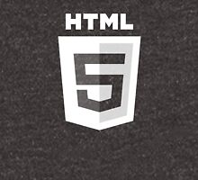 HTML 5 - White/Black (Text) Unisex T-Shirt