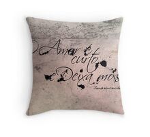 Love is Short & Leaves Marks Throw Pillow