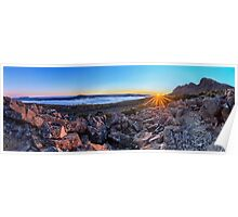 Sunrise panorama - Ben Lomond, Tasmania Poster