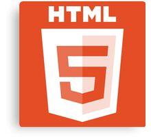 HTML 5 - White/Orange (Text) Canvas Print