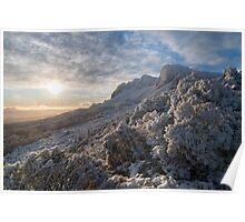 Snowy sunrise. Ben Lomond, Tasmania. Poster