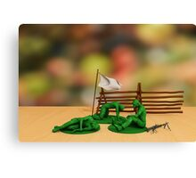 Toy Soldiers - Defeated Canvas Print
