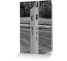 E Street Freeze Out  Greeting Card