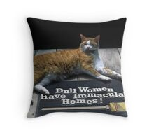Cat on Dull Women Mat Throw Pillow