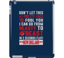 Beauty To Beast. Love New England Football. iPad Case/Skin
