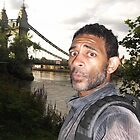 Self-portrait/Hammersmith bridge -(210712)- photography by paulramnora