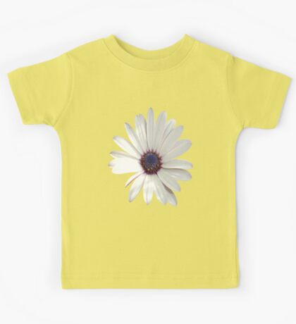 White Daisy Isolated On White Kids Tee