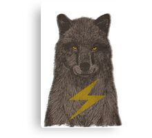 Warning: Electric Wolf Canvas Print