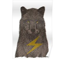 Warning: Electric Wolf Poster