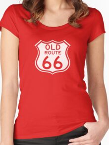 Old Route 66, USA - Contrast Version Women's Fitted Scoop T-Shirt