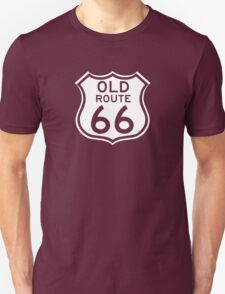 Old Route 66, USA - Contrast Version T-Shirt
