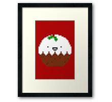 Cute Christmas Pixel Pud Framed Print