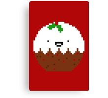 Cute Christmas Pixel Pud Canvas Print